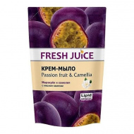 FRESH JUICE Passion fruit & Camellia Крем-мыло маракуйя и камелия с маслом камелии в дойпаке